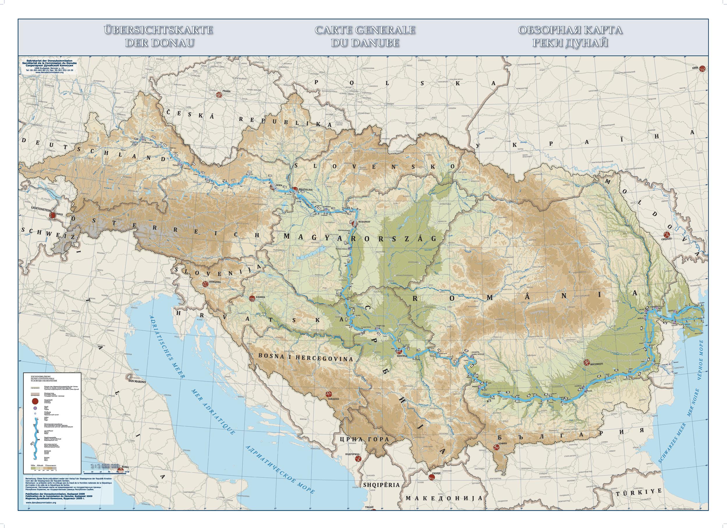 maps of the danube danube mission donaukommission