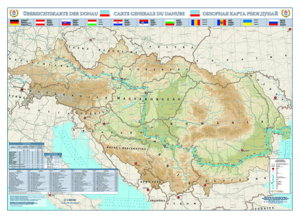 Maps Of The Danube Danube Commission Donaukommission