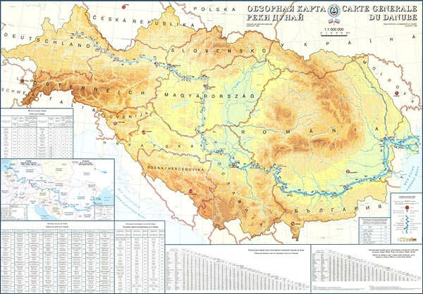 Overview Map of the Danube River